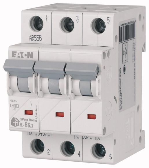 Выключатель автоматический модульный 3п C 25А 4.5кА HL-C25/3 EATON 194793